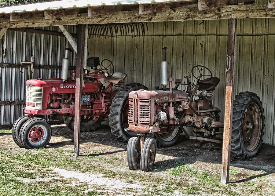 Tractor Photograph - Tractors In The Shed by Victor Montgomery