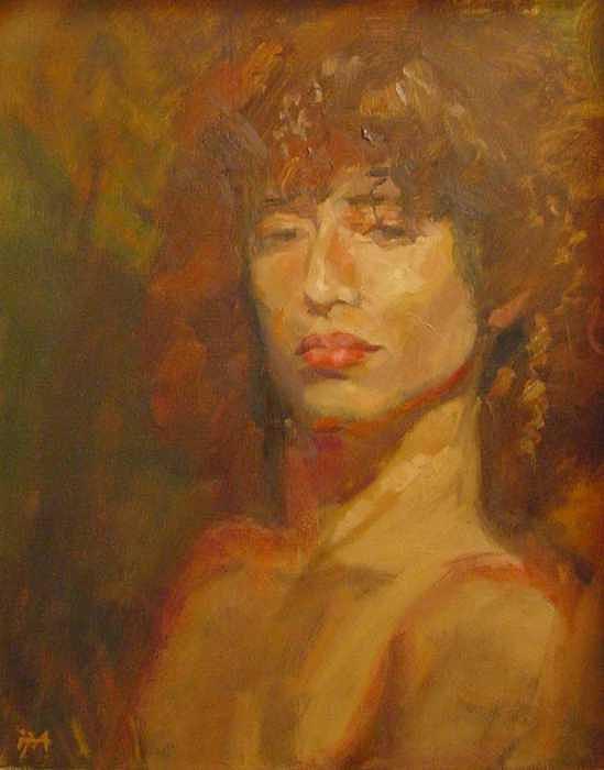 Portrait Painting - Tracy by Irena  Jablonski