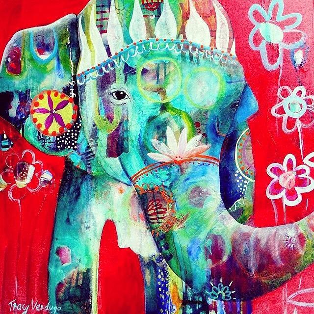 Elephant Photograph - Bringer Of Joy. 2013 by Tracy Verdugo