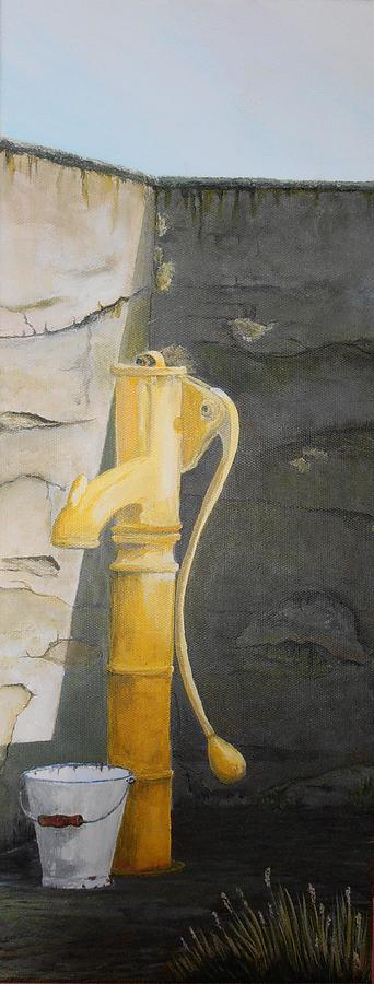 Pump Painting - Tradional Irish Roadside Pump by Siobhan Lawson