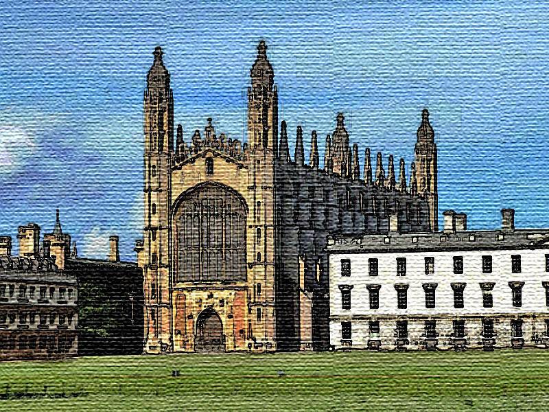 Cambridge Digital Art - Traditional Cambridge by Surbjit Singh