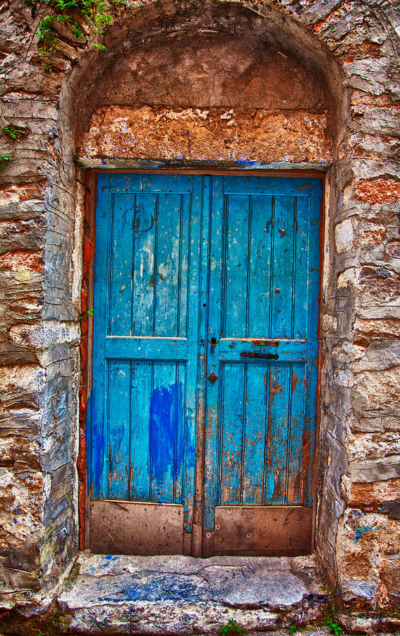 Old Photograph - Traditional Door 2 by Emmanouil Klimis