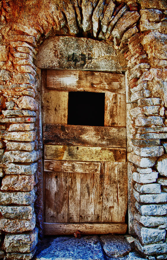 Old Photograph - Traditional Door 3 by Emmanouil Klimis