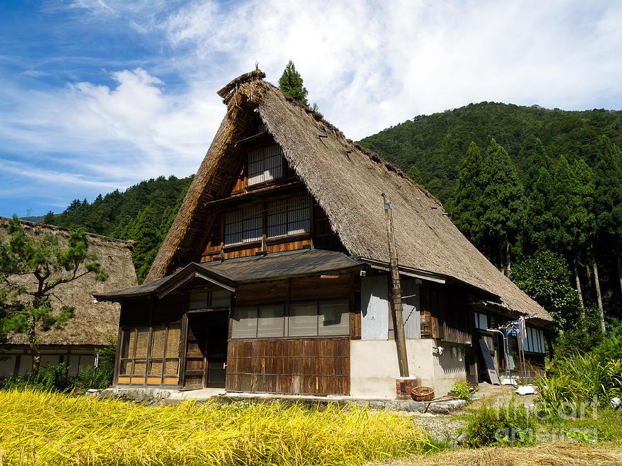 Old Photograph - Traditional Gassho-zukuri Style House In Suganuma Village - Gokayama - Japan by Chieko Shimado