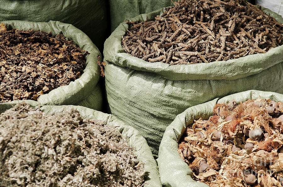 Traditional Herbs In Vietnam Market Photograph