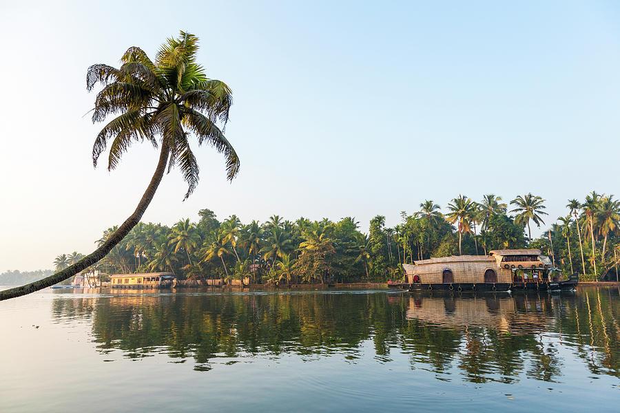 Alappuzha Photograph - Traditional Houseboat, Kerala by Peter Adams