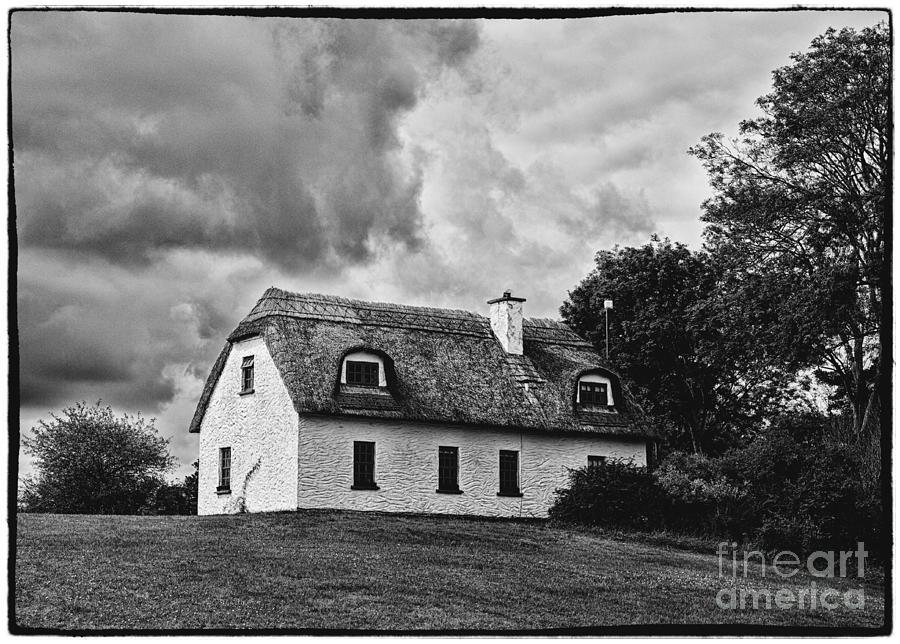 Ancient Photograph - Traditional Irish Cottage by Gabriela Insuratelu