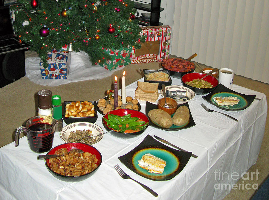 Traditional Lithuanian Christmas Eve Dinner With American ...