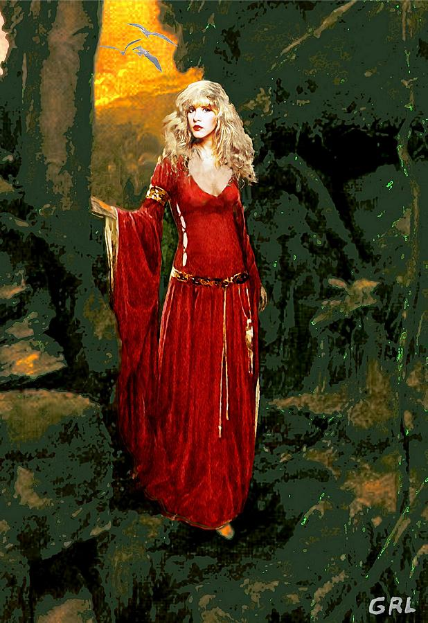 Image Painting - Traditional Modern Original Painting Stevie Nicks Rhiannon by G Linsenmayer