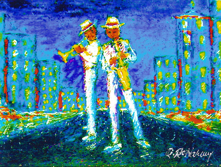 New Orleans Painting - Traffic by Aaron Harvey