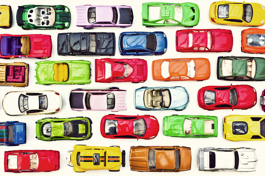 Traffic jam of toy cars Photograph by Image by Catherine MacBride