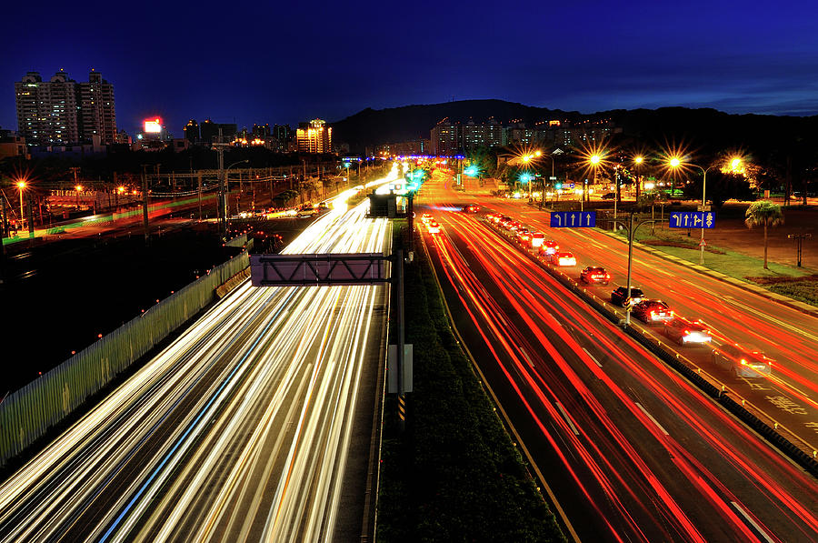 Traffic Trails Photograph by Photo By Vincent Ting