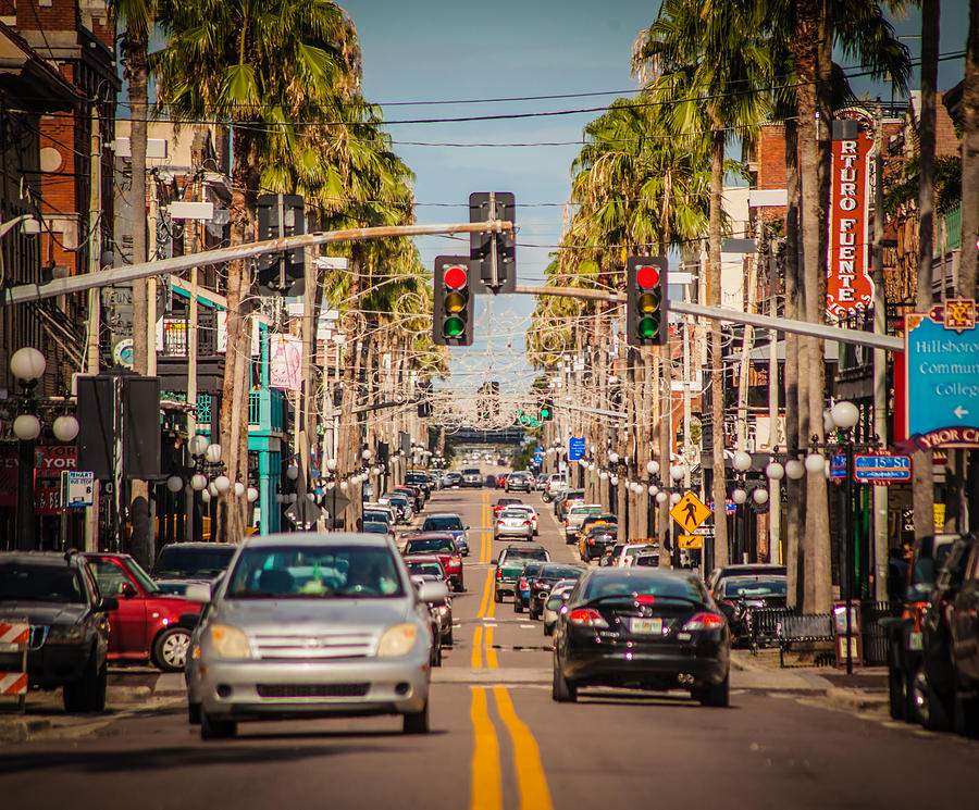 Tampa Photograph - Traffic by Ybor Photography
