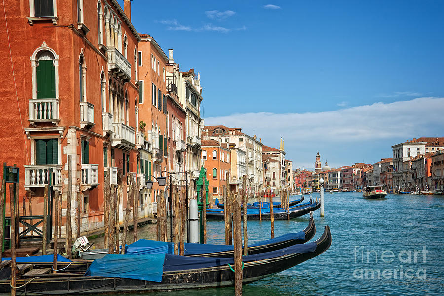 Venice Photograph - Traghetto by Delphimages Photo Creations