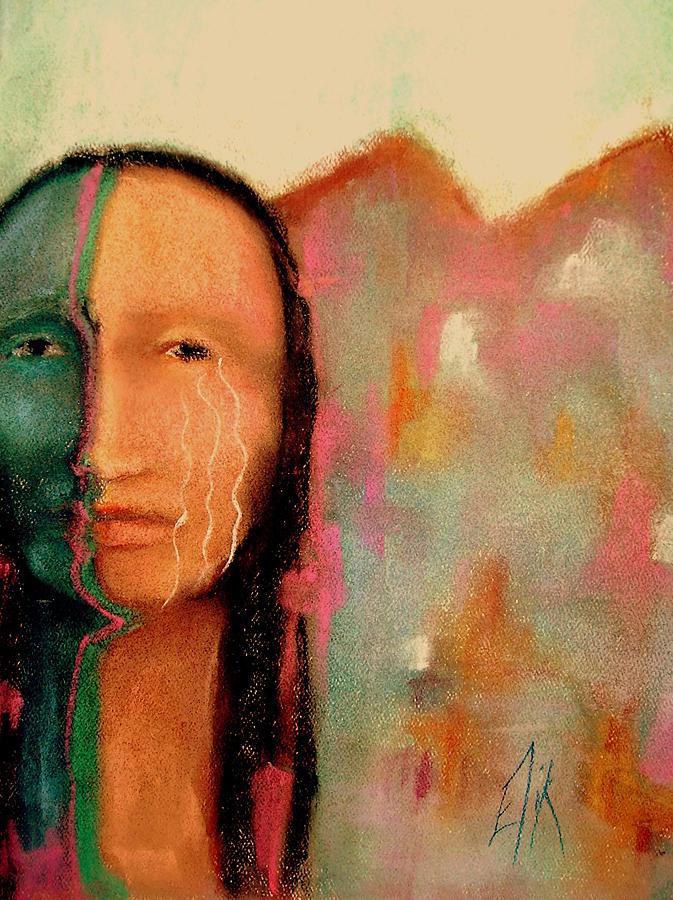 Native American Theme Artwork Mixed Media - Trail Of Tears by Johanna Elik