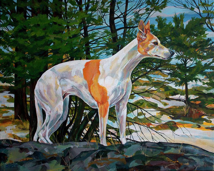 Whippet Painting - Trailblazer by Derrick Higgins