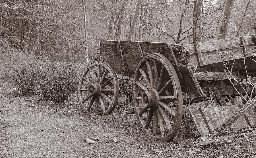 Wagon Photograph - Trails End by William Culler
