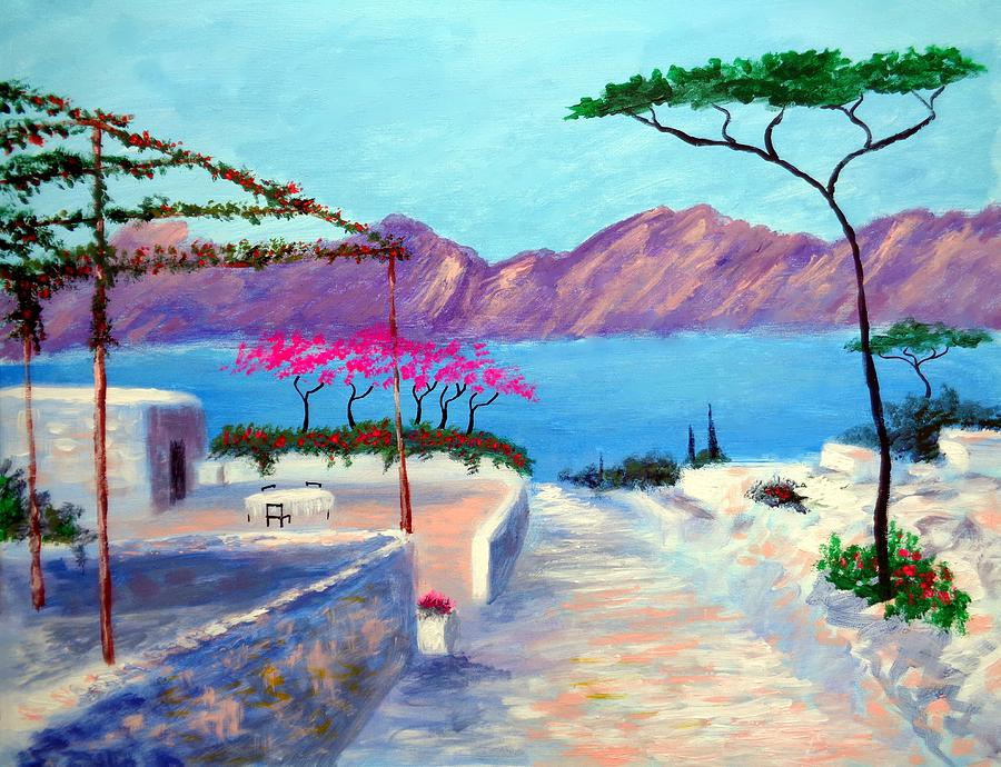 Greece Painting - Trails Of Greece by Larry Cirigliano