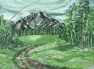 Landscape Painting - Trails  by Sweta Shalini