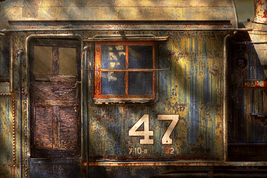 Train Photograph - Train - A Door With Character by Mike Savad