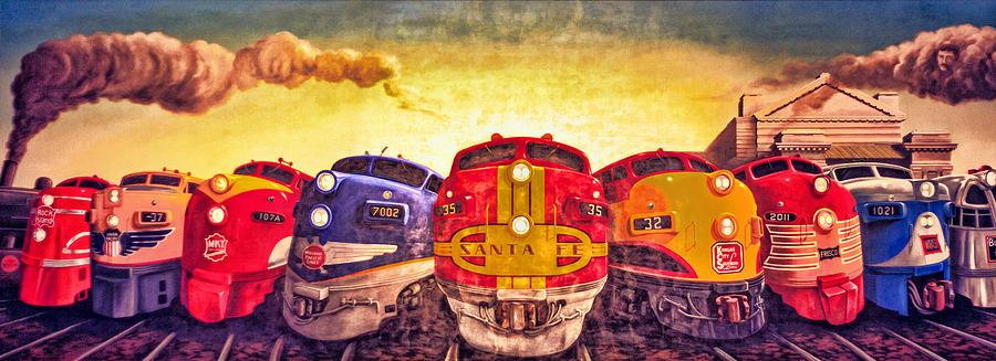 4 O'clock Photograph - Train Art At Union Station by Sennie Pierson
