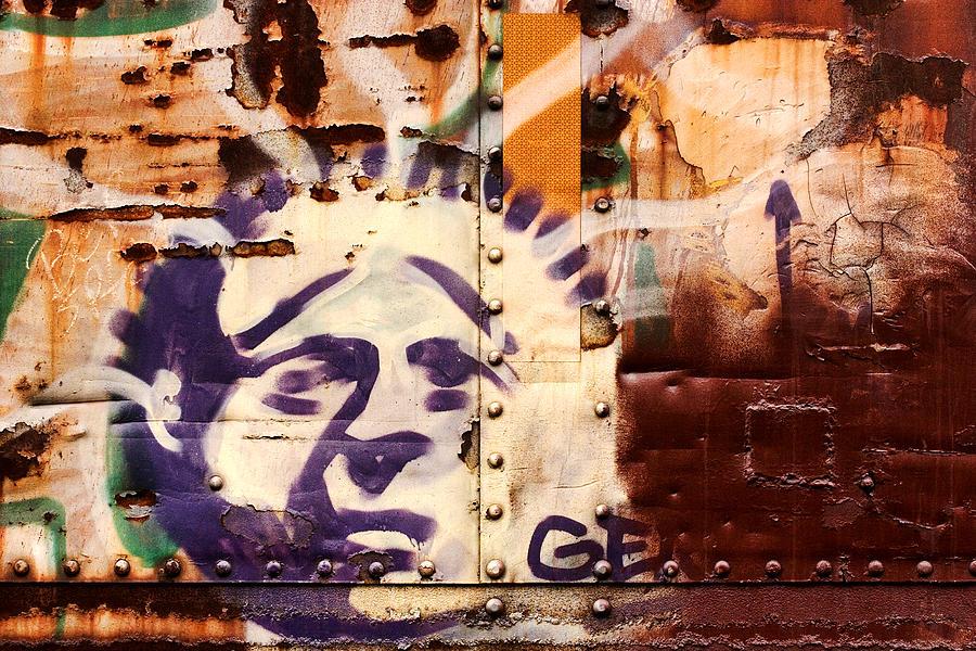 Graffiti Photograph - Train Art Statue Of Liberty by Carol Leigh