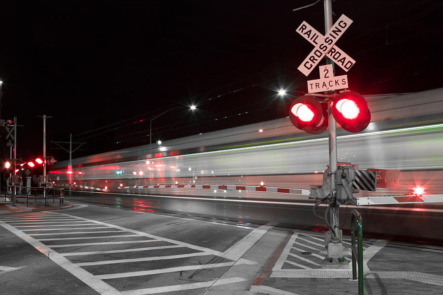 Train Photograph - Train Blur  by Rollie Robles