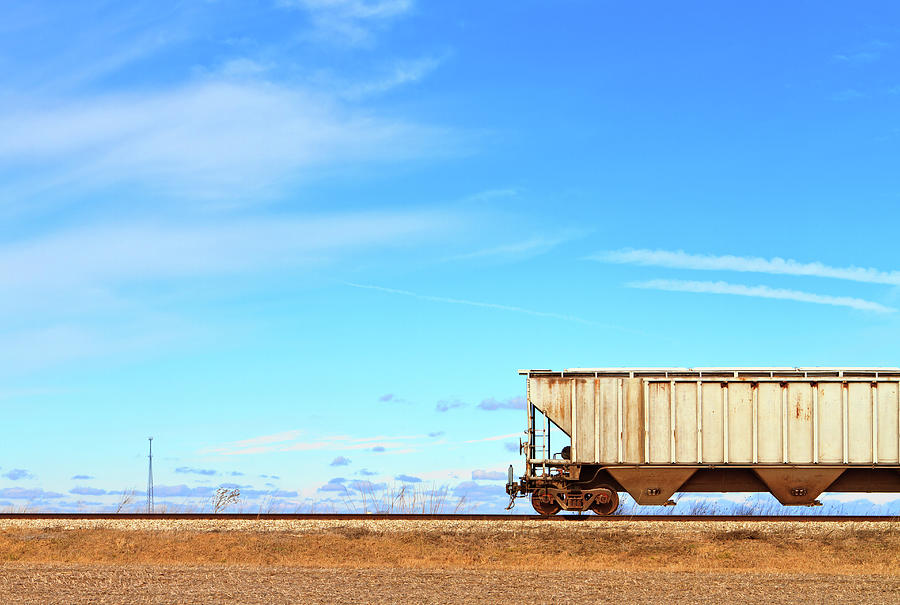 Train Car On Railroad Tracks Photograph by Ghornephoto