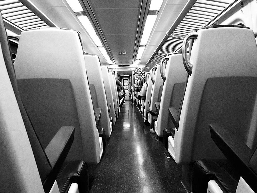 Train Photograph - Train Car by Sam Newton