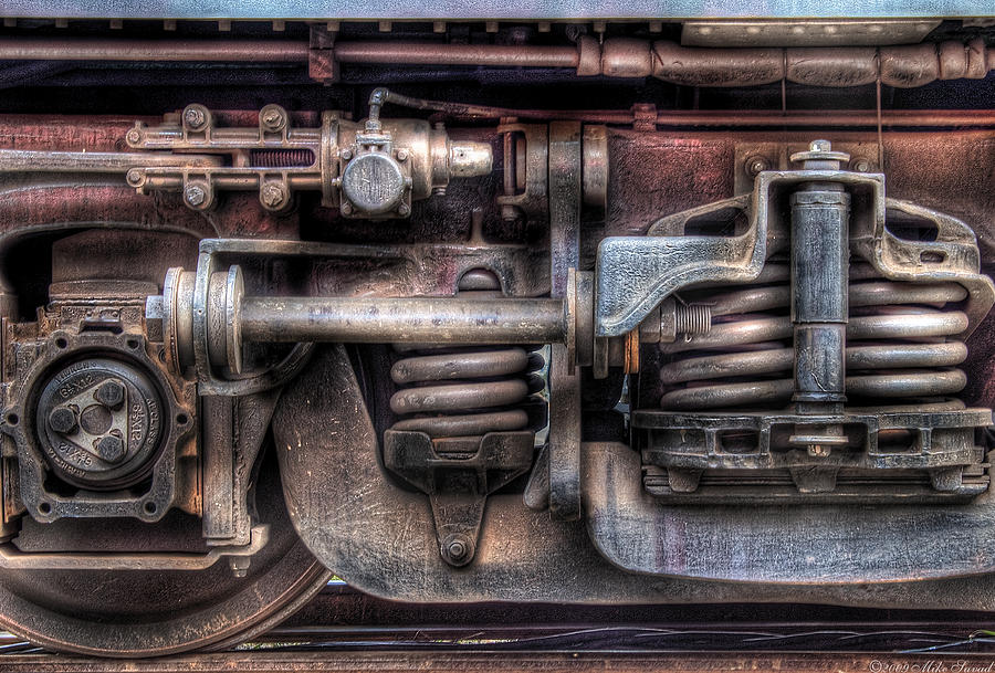 Savad Photograph - Train - Car - Springs And Things by Mike Savad