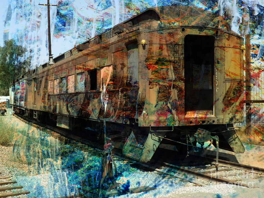 Train Photograph - Train Cars by Robert Ball