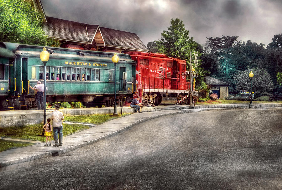 Savad Photograph - Train - Engine - Black River Western by Mike Savad
