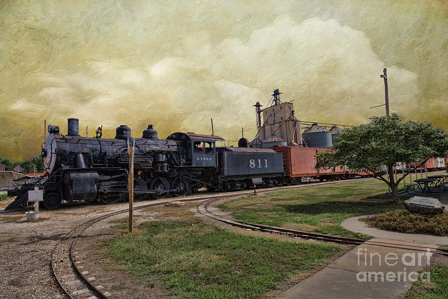 Ancient Photograph - Train - Engine by Liane Wright