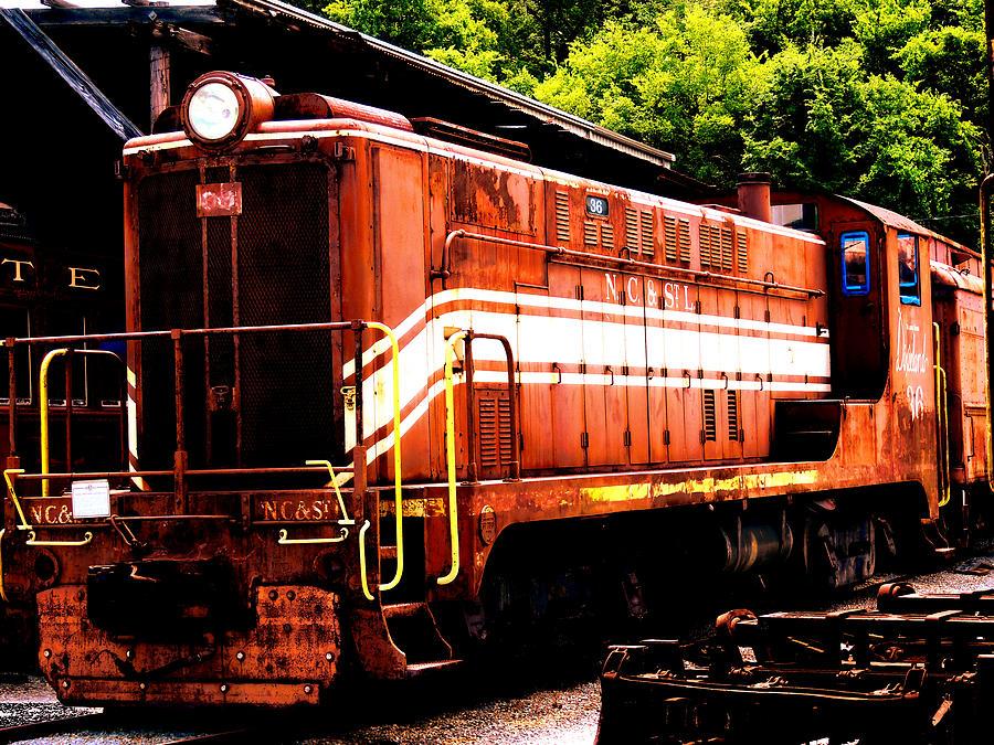 Train Photograph - Train Engine Nc Sl  by Mark Moore