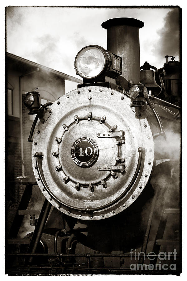 Smoke Photograph - Train Face by John Rizzuto