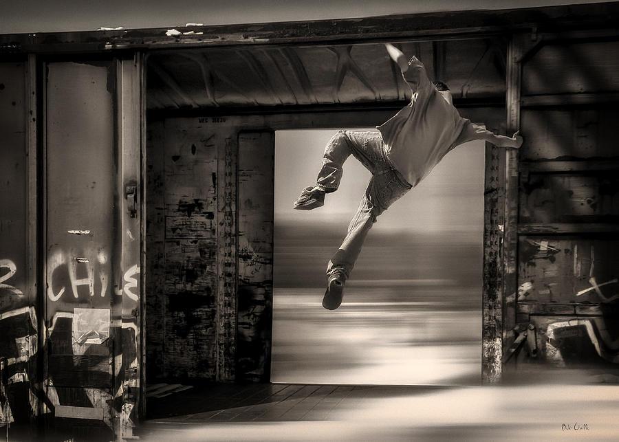 Trains Photograph - Train Jumping by Bob Orsillo