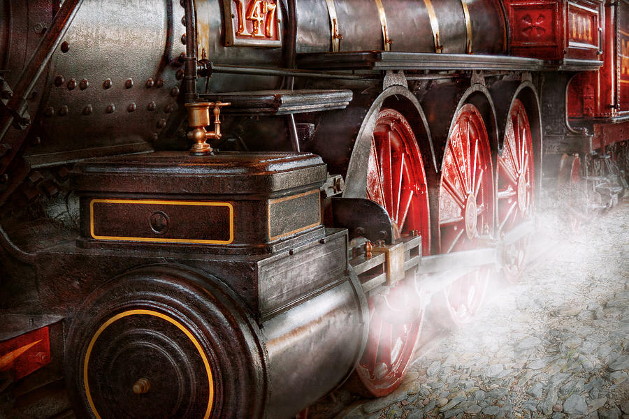 Savad Photograph - Train - Let Off Some Steam  by Mike Savad