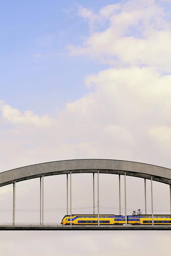 Train On A Bridge Photograph by Sjo