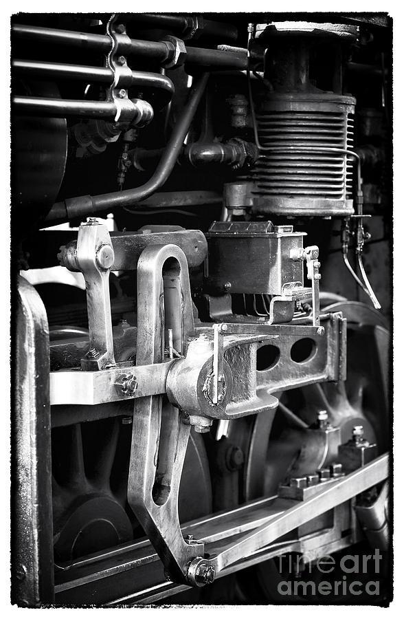 Train Piston Photograph - Train Pistons by John Rizzuto