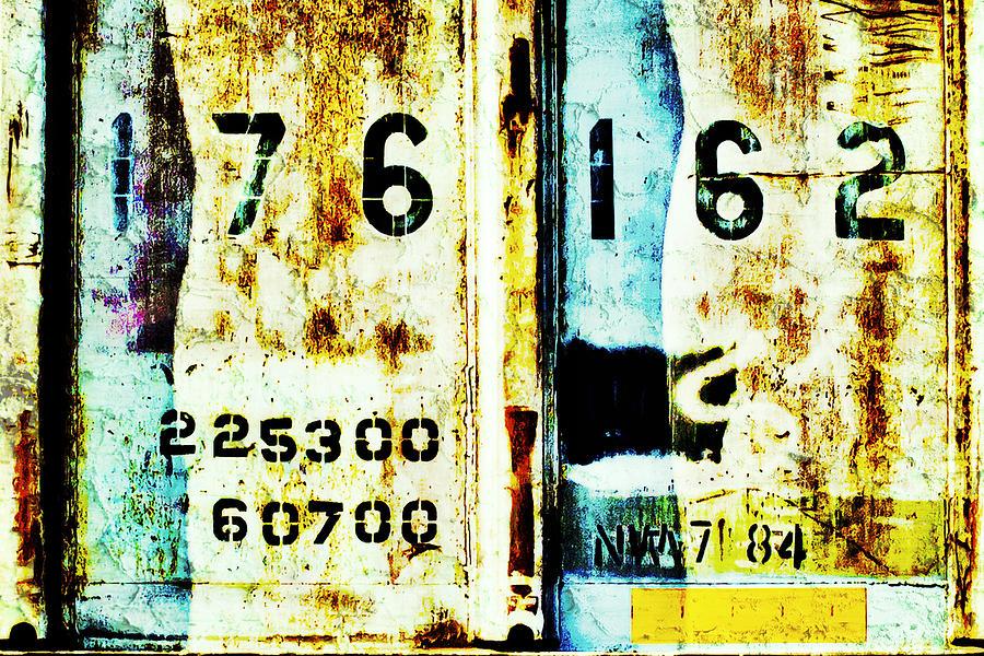 Train Stencil Photograph - Train Plate 3 by April Lee