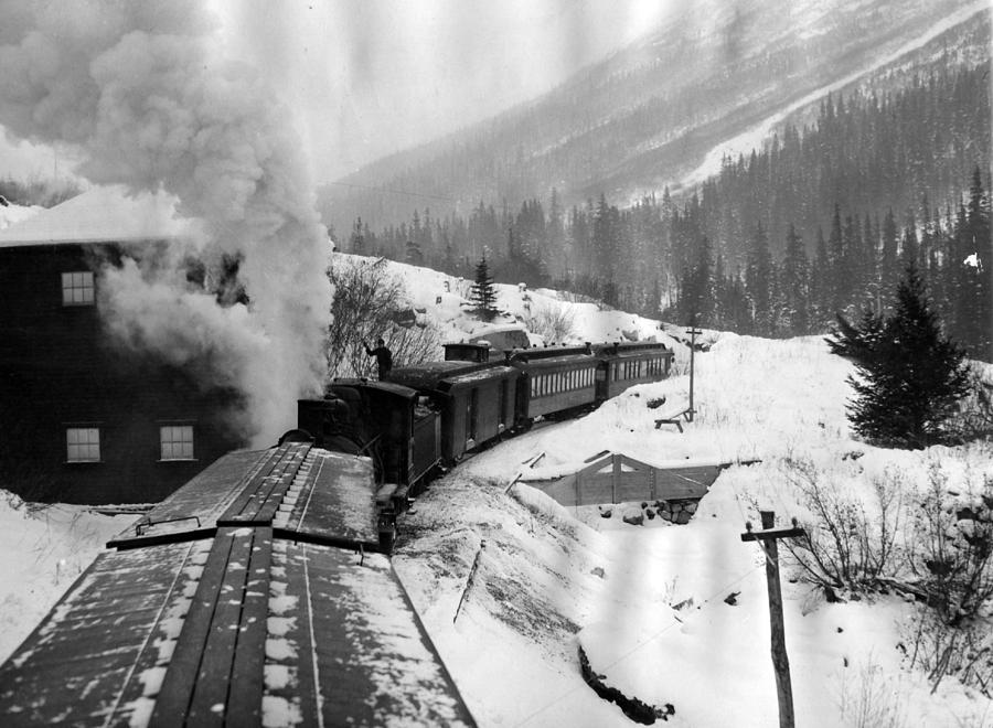 Retro Images Archive Photograph - Train Ride Through The Snow by Retro Images Archive