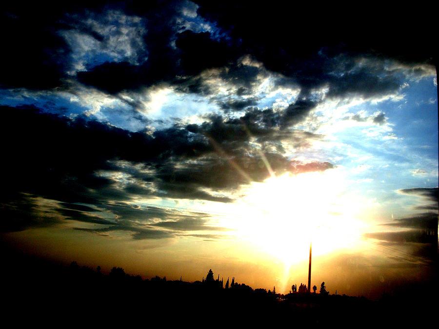 Sky Photograph - Train Spotting by Misty Herrick