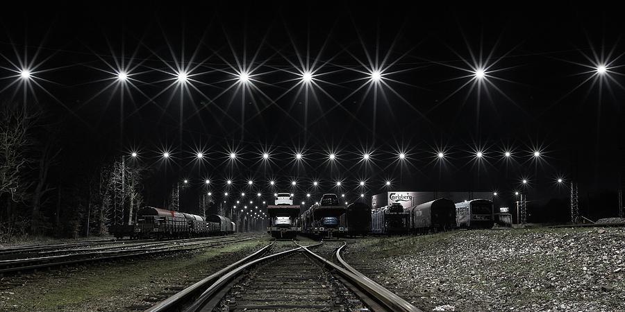 Denmark Photograph - Train Stars by Leif L?ndal