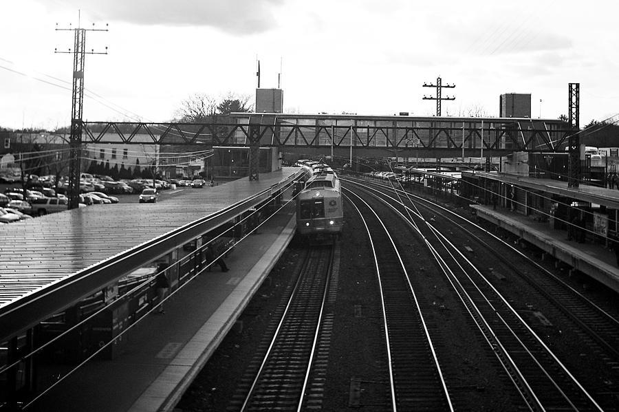 Train Photograph - Train Station by Alexander Mendoza