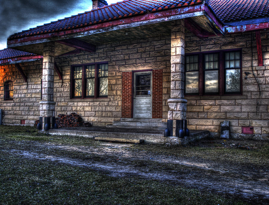 Train Station Photograph - Train Stop by Thomas Young