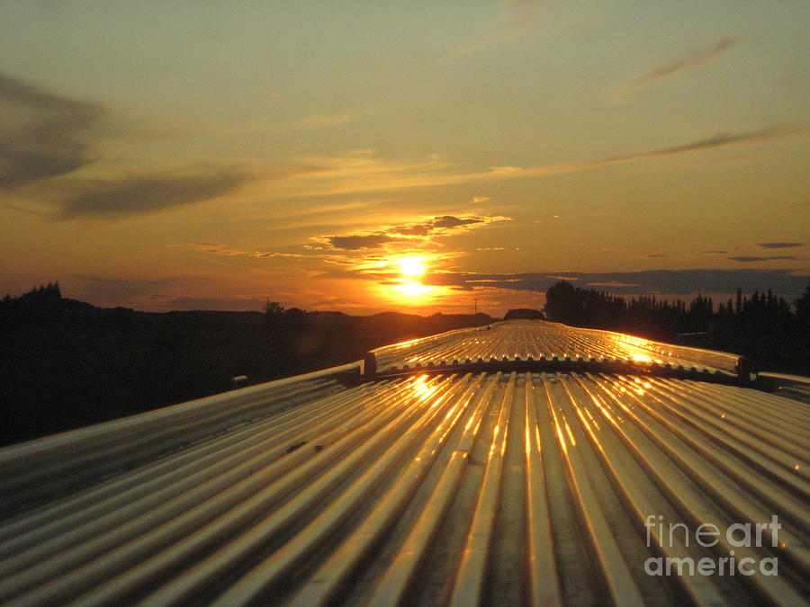 Train Sunset by Sharron Cuthbertson