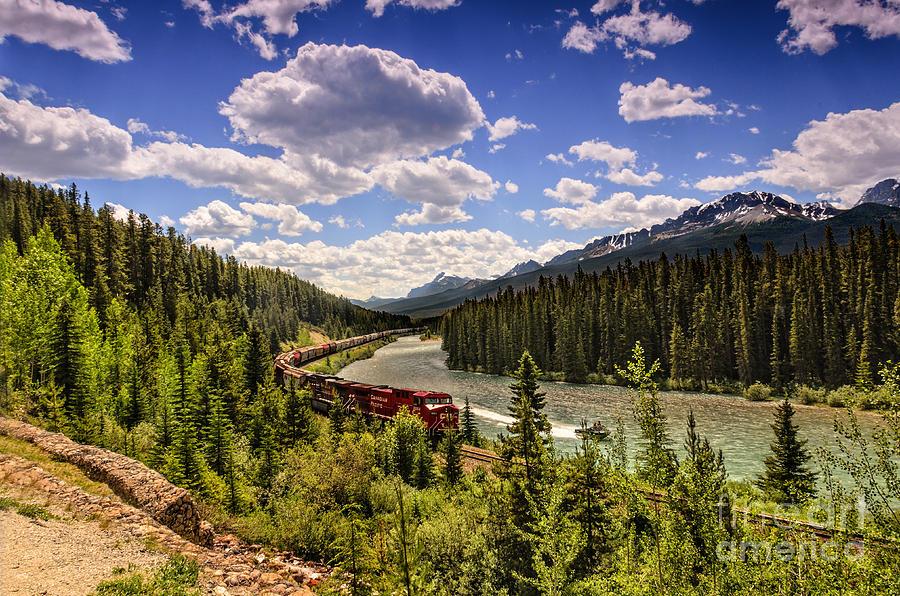 Train Through The Mountains Photograph