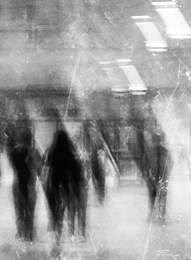 Street Photography Photograph - Train To Work  by The Artist Project
