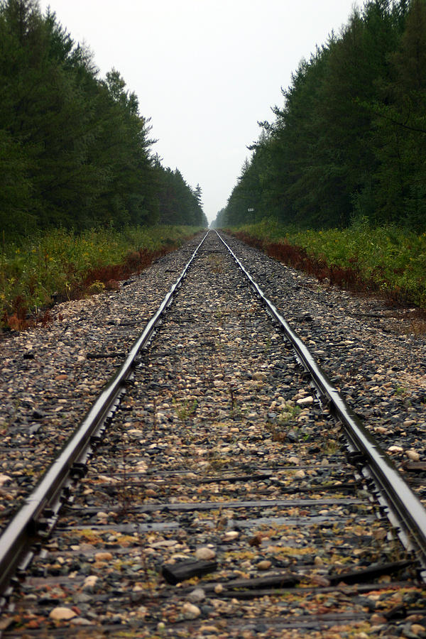 Train Track Photograph - Train Track Vanishing by Kevin Snider