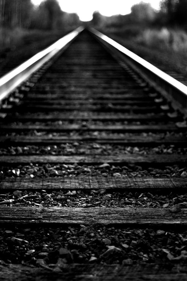 Train Photograph - Train Tracks by Nikki Dunn